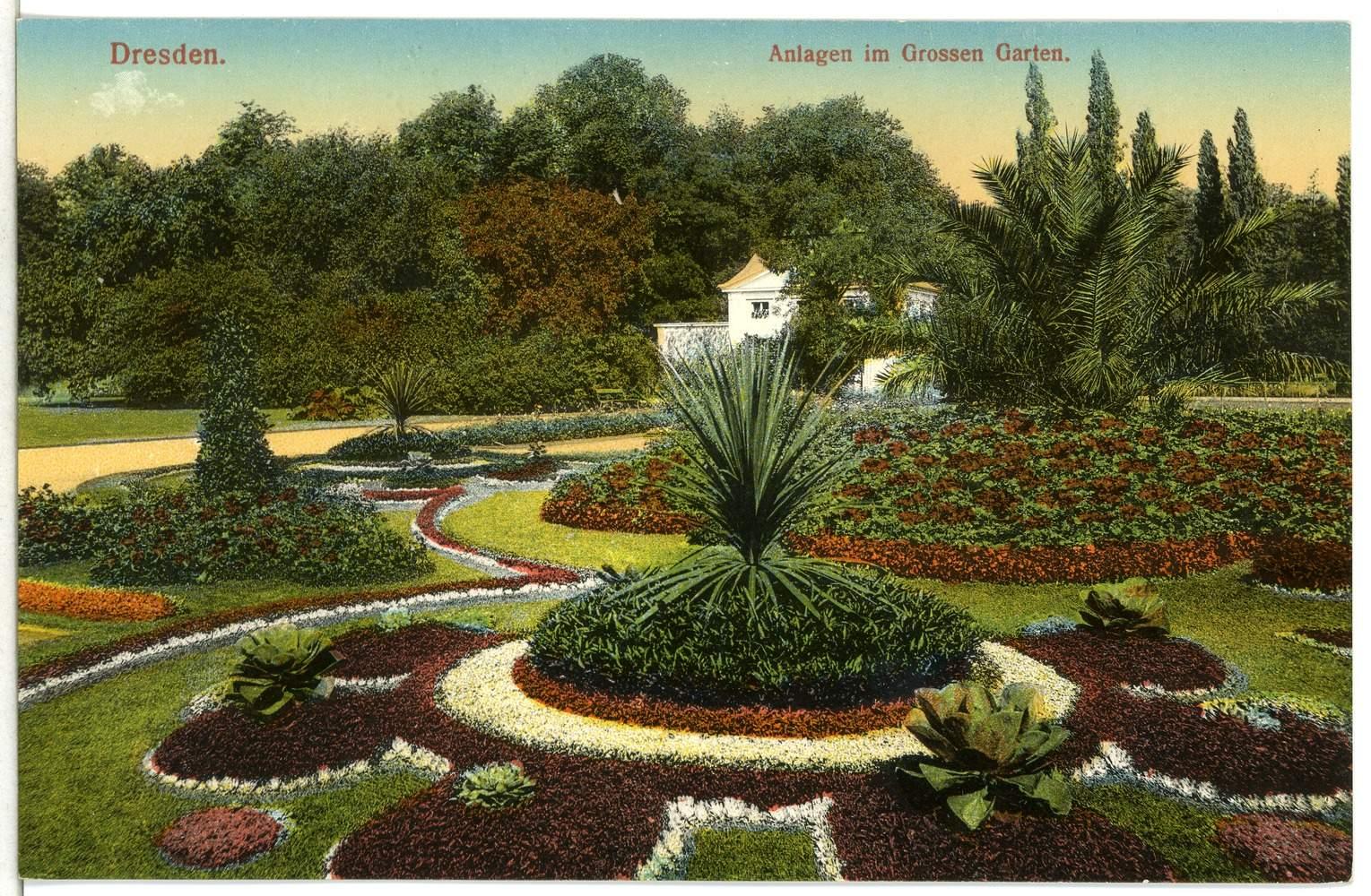 Dresden 1911 Anlagen im Großen Garten Brück & Sohn Kunstverlag