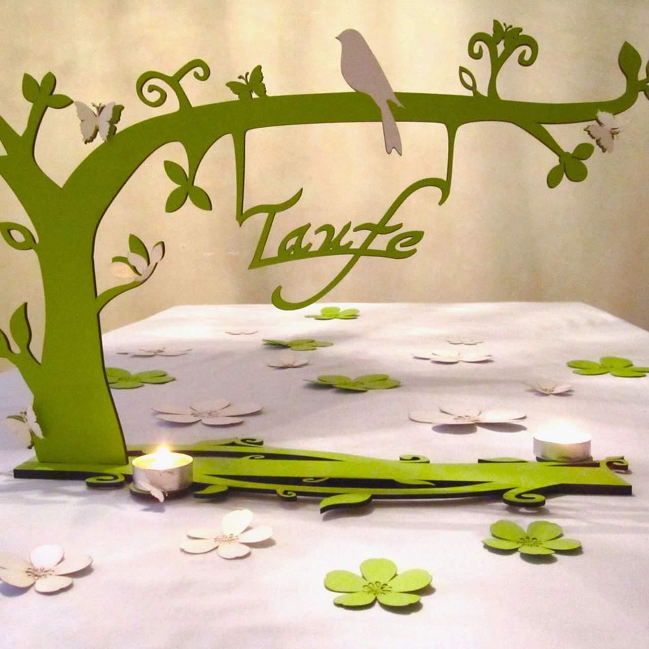 tischdeko bezaubernder garten gruen