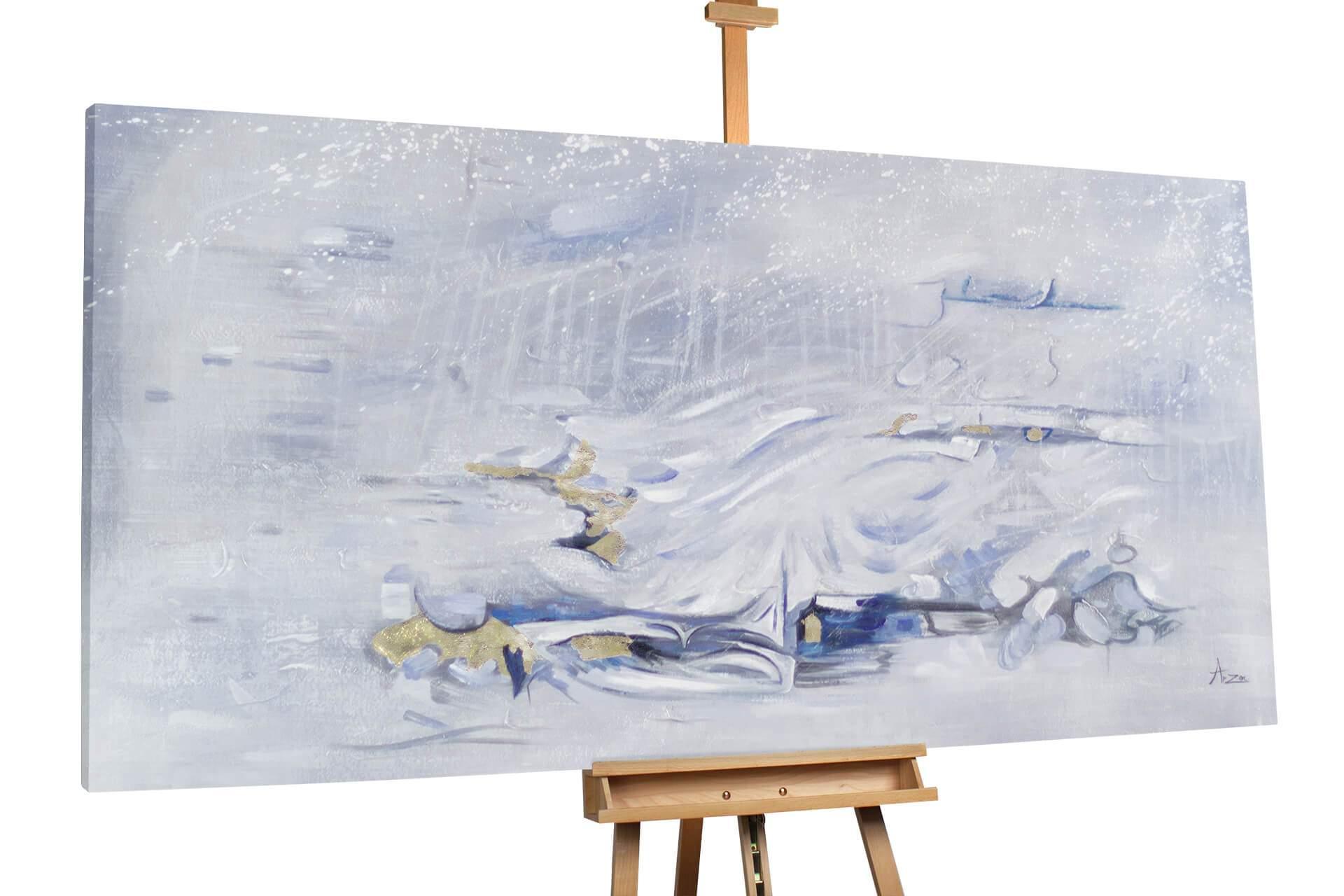 kl abstrakt blau grau gold blau grau oel gemaelde oel bilder handgemalte unikate moderne kunst 0002 01