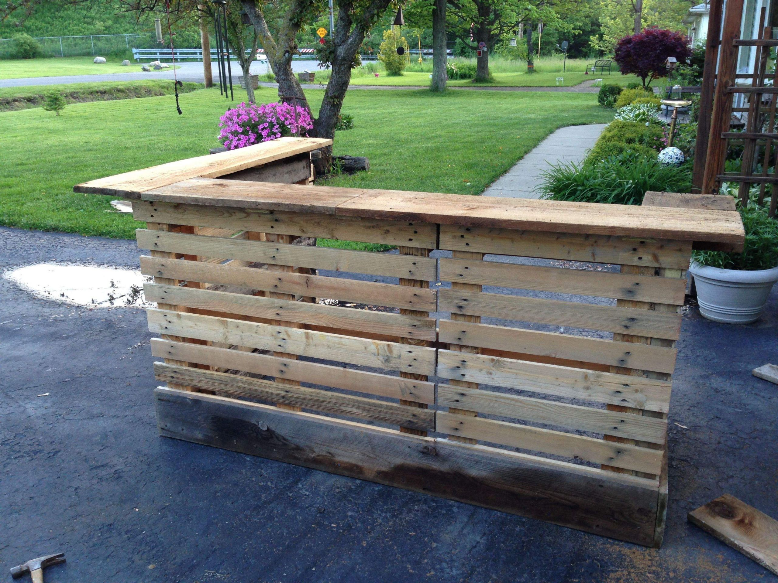 Garten Bar Elegant Bar Made From Upcycled Pallets and 200 Year Old Barn Wood