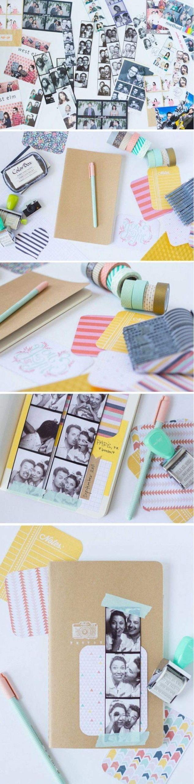 fotowand selber machen washi tape ideen dekoration