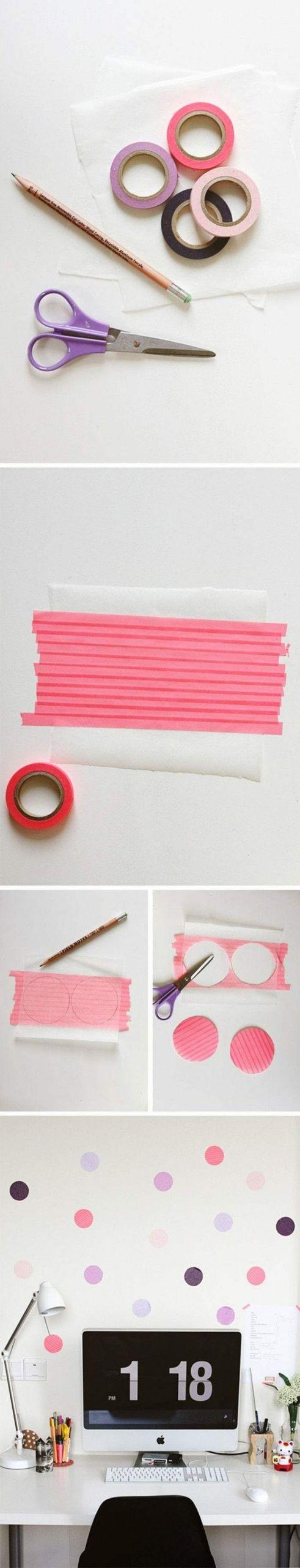 diy ideen mit washi tape wanddeko selber basteln