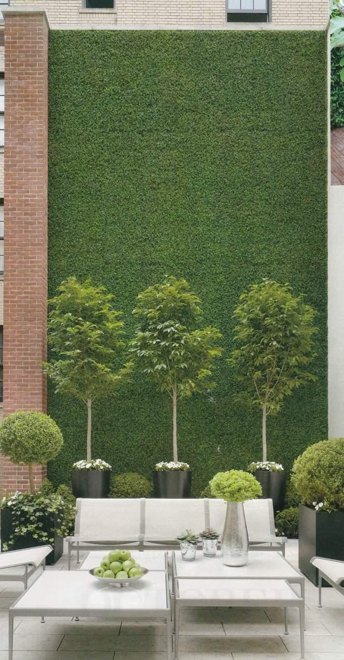 deko terrasse mit kleinen B C3 A4umchen