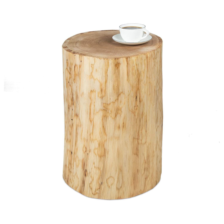 Möbelmanufaktur GreenHaus Holzblock Baumstamm Holzklotz Eiche geölt Beistelltisch 2