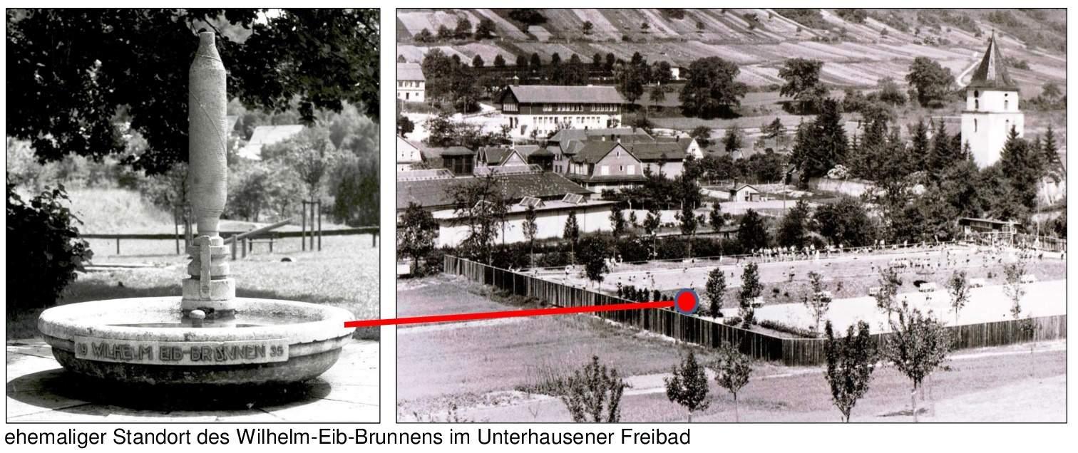 2016 04 19 Unterhausen 1935 Freibad Wilhelm Eib Brunnen % BLOG