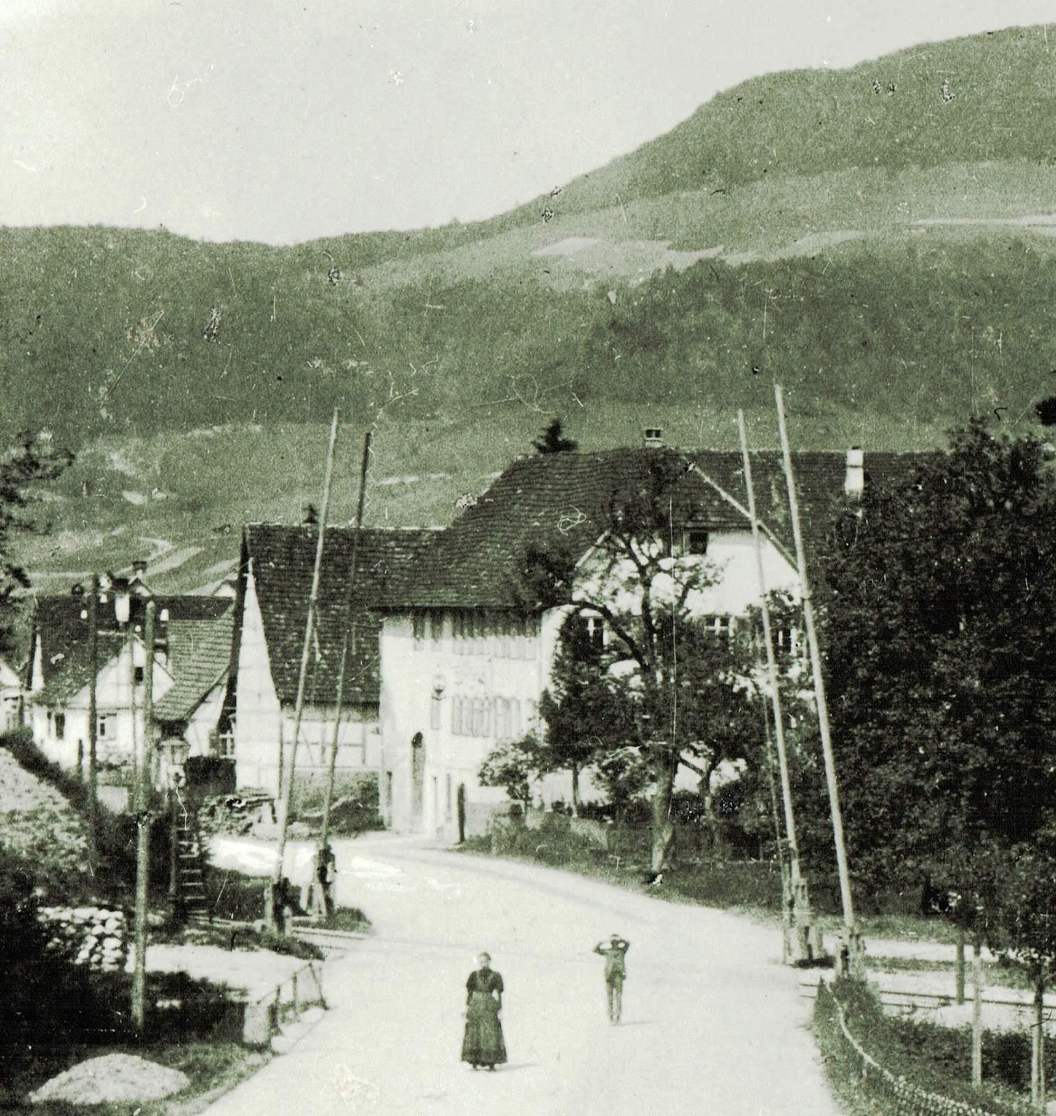 Unterhausen Adlerwirt Schüle Postagentur ab 1 5 1876