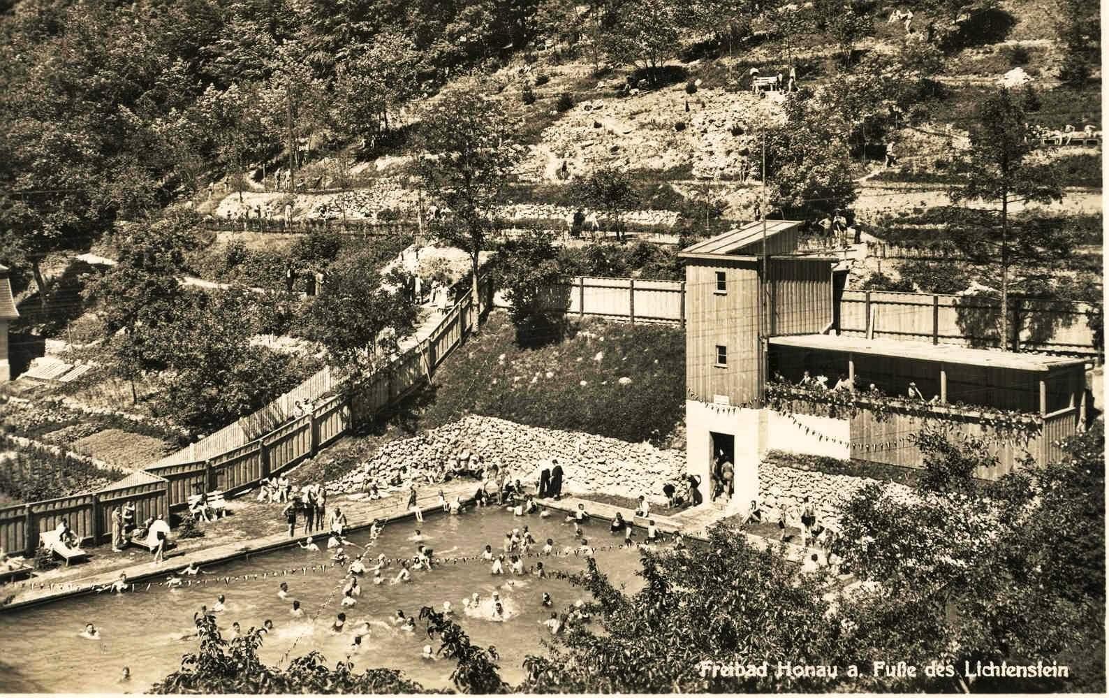 Honau 1935 Freibad