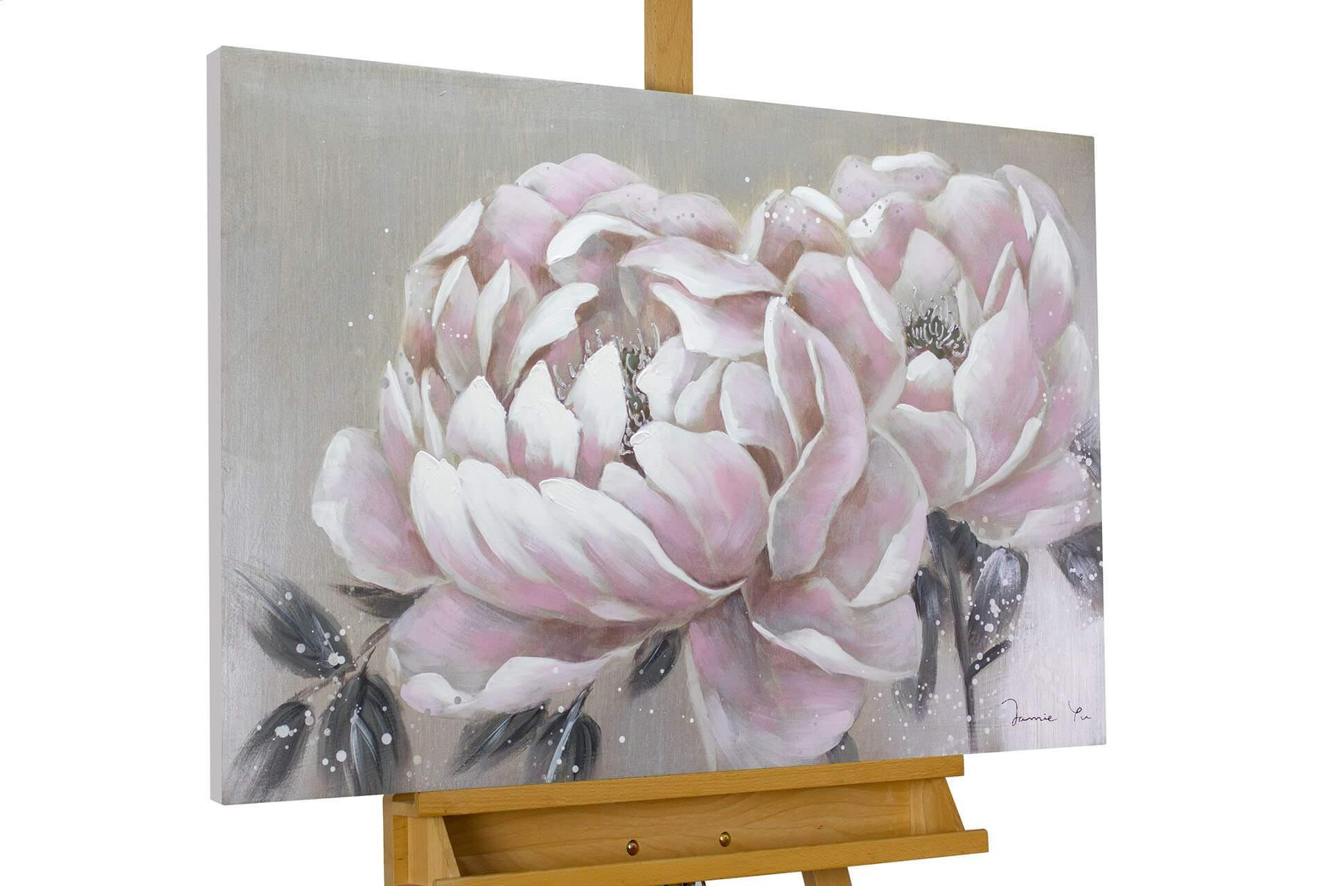 kl blume rosa grau modern acryl gemaelde oel bild 0257fe2b2c27d05