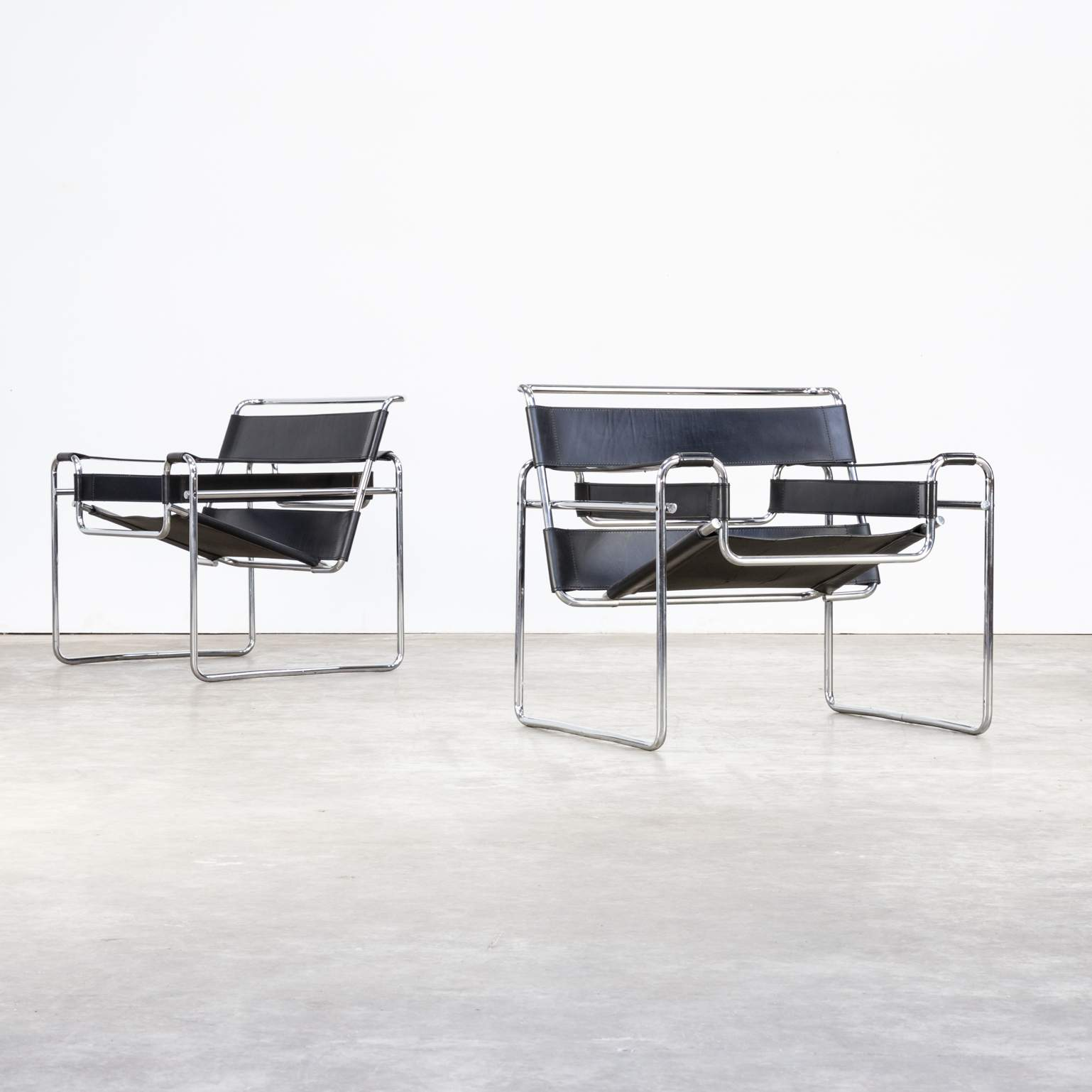 2a0682df armchairs wassily black leather marcel breuer in 3olqhlbl of wassily sessel