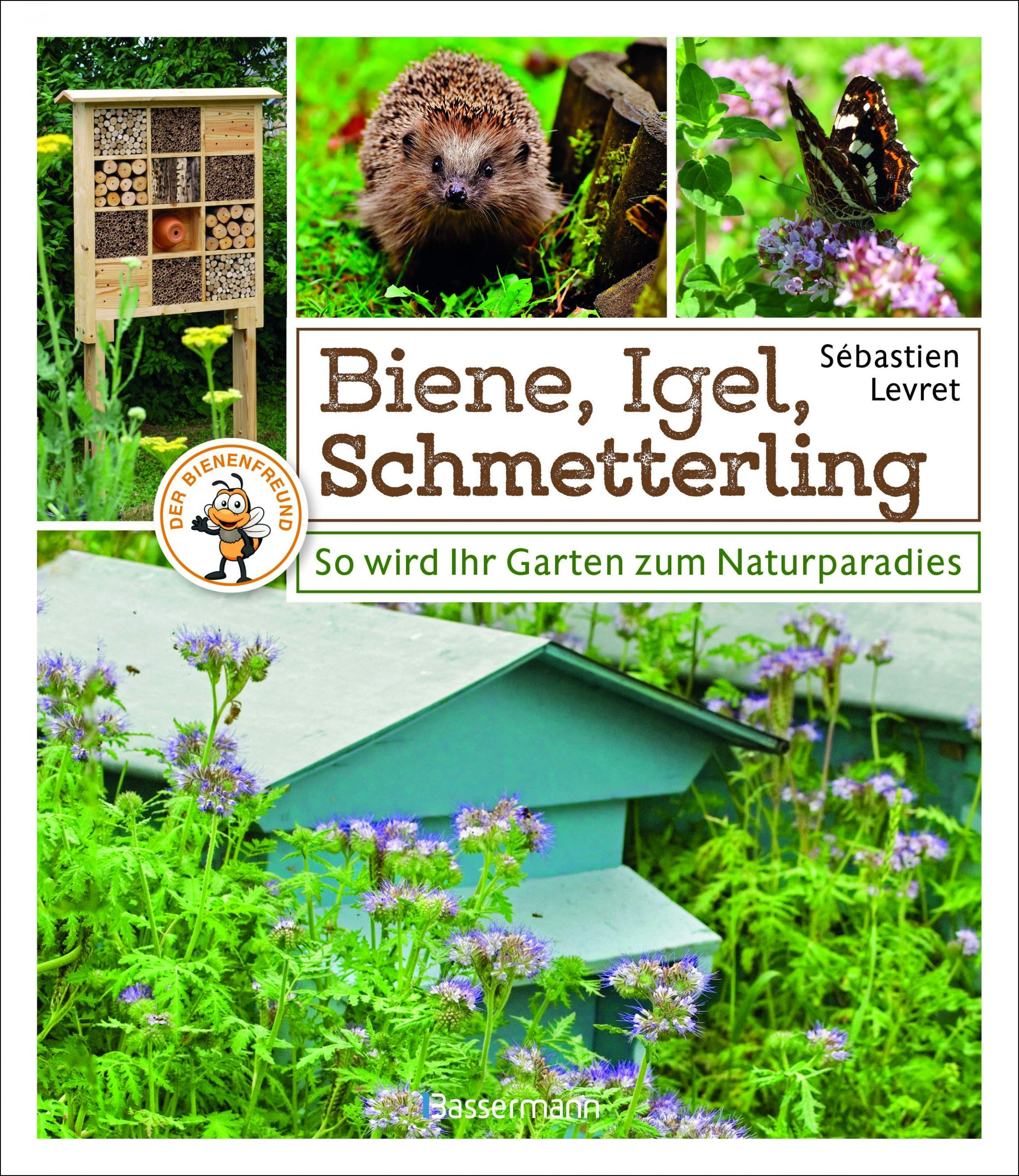 Biene Igel Schmetterling Cover