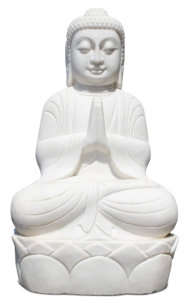 Garten Buddha Luxus Garten Buddha Figur Aus Marmor Stein Mit Namaskar Mudra