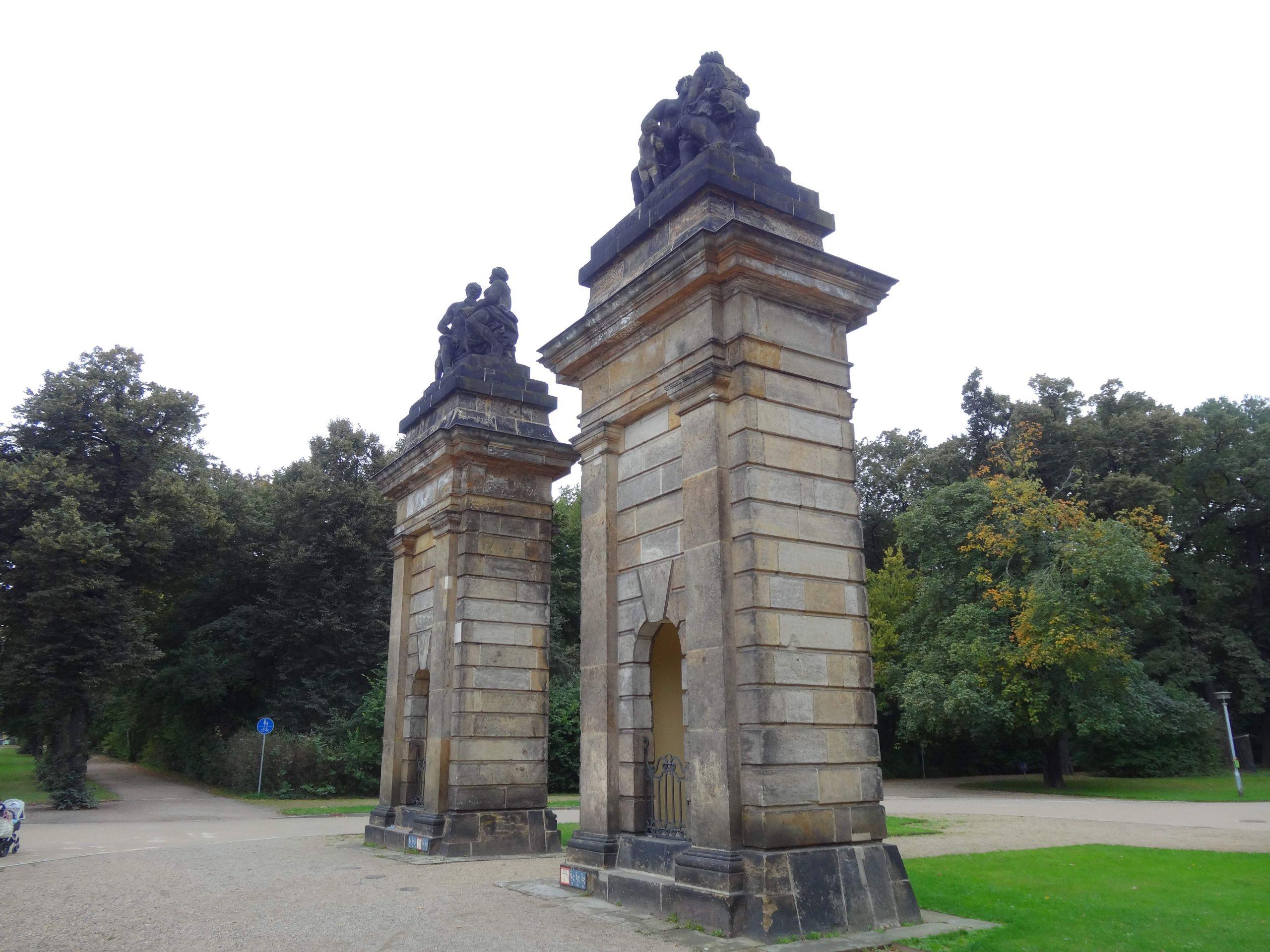 Garten Dresden Reizend File tor Ostseite Großer Garten Dresden 190