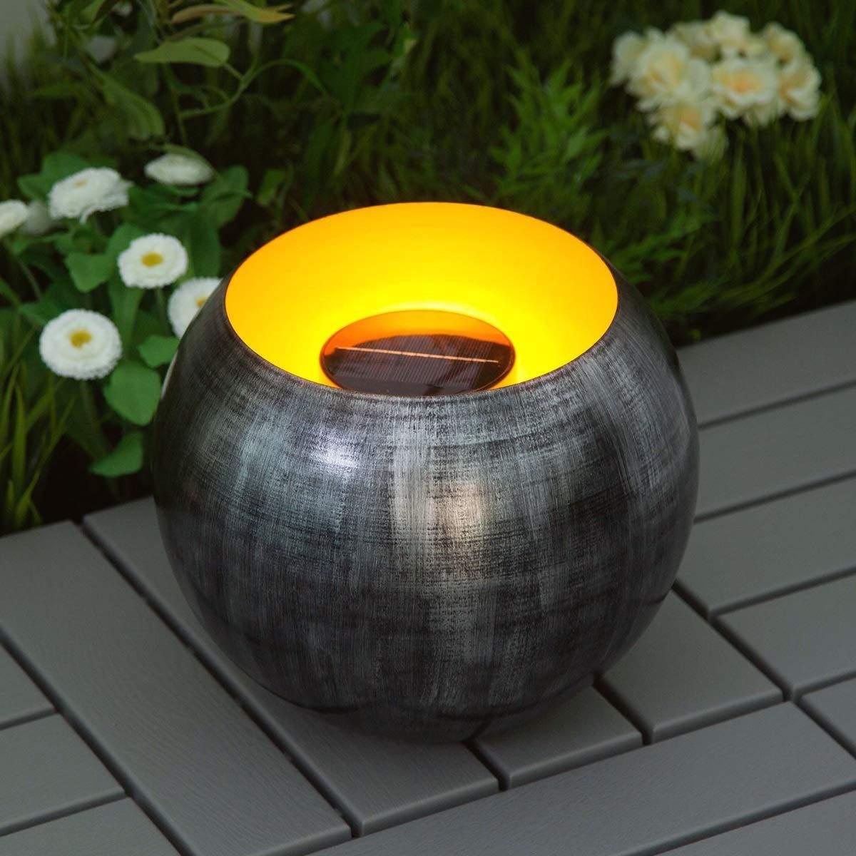 Garten Feuer Reizend Gartenbeleuchtung Mit Der Outdoor Led solar Feuer Schale