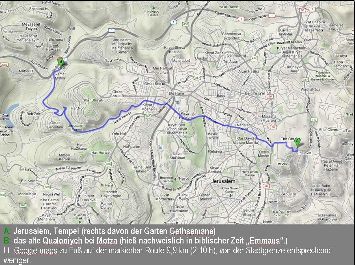 Worte Weg nach Emmaus map