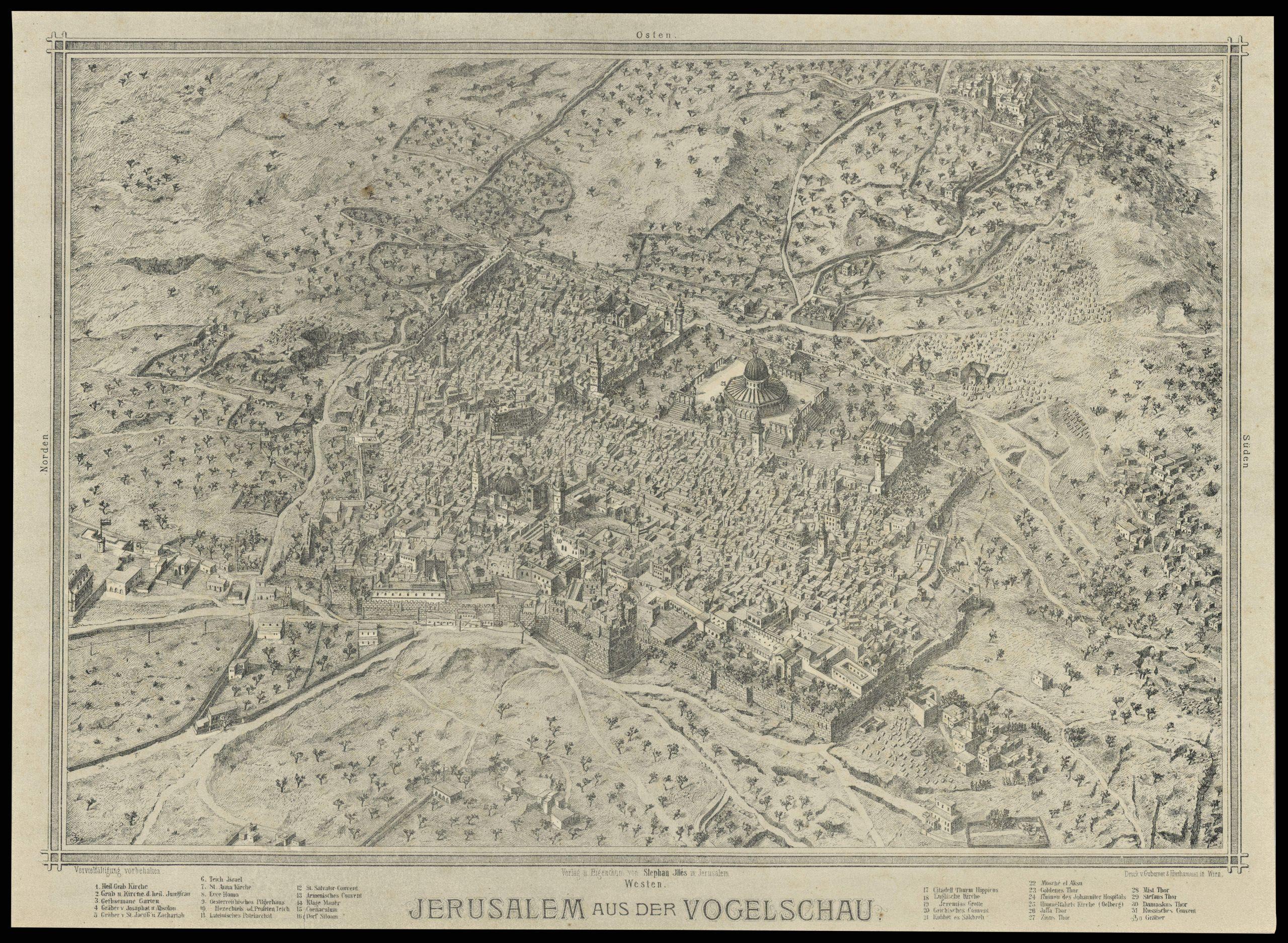 Jerusalem aus der Vogelschau