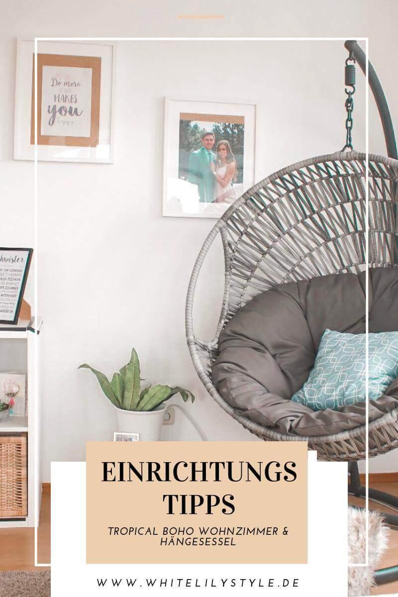 5 Einrichtungstipps Tropical Boho Wohnzimmer und Hängesessel 14