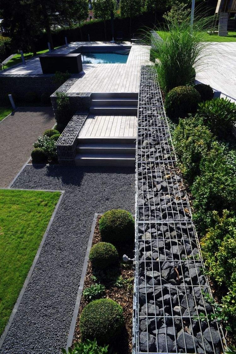 Garten Hanggestaltung Schön Steinmauer Garten – Gestaltungsideen Für Mauersysteme In