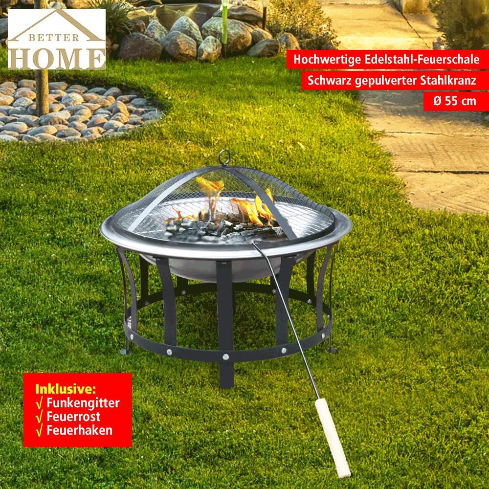 FirePot nacht Web Better Home Edelstahl Feuerschale 600x600 2x