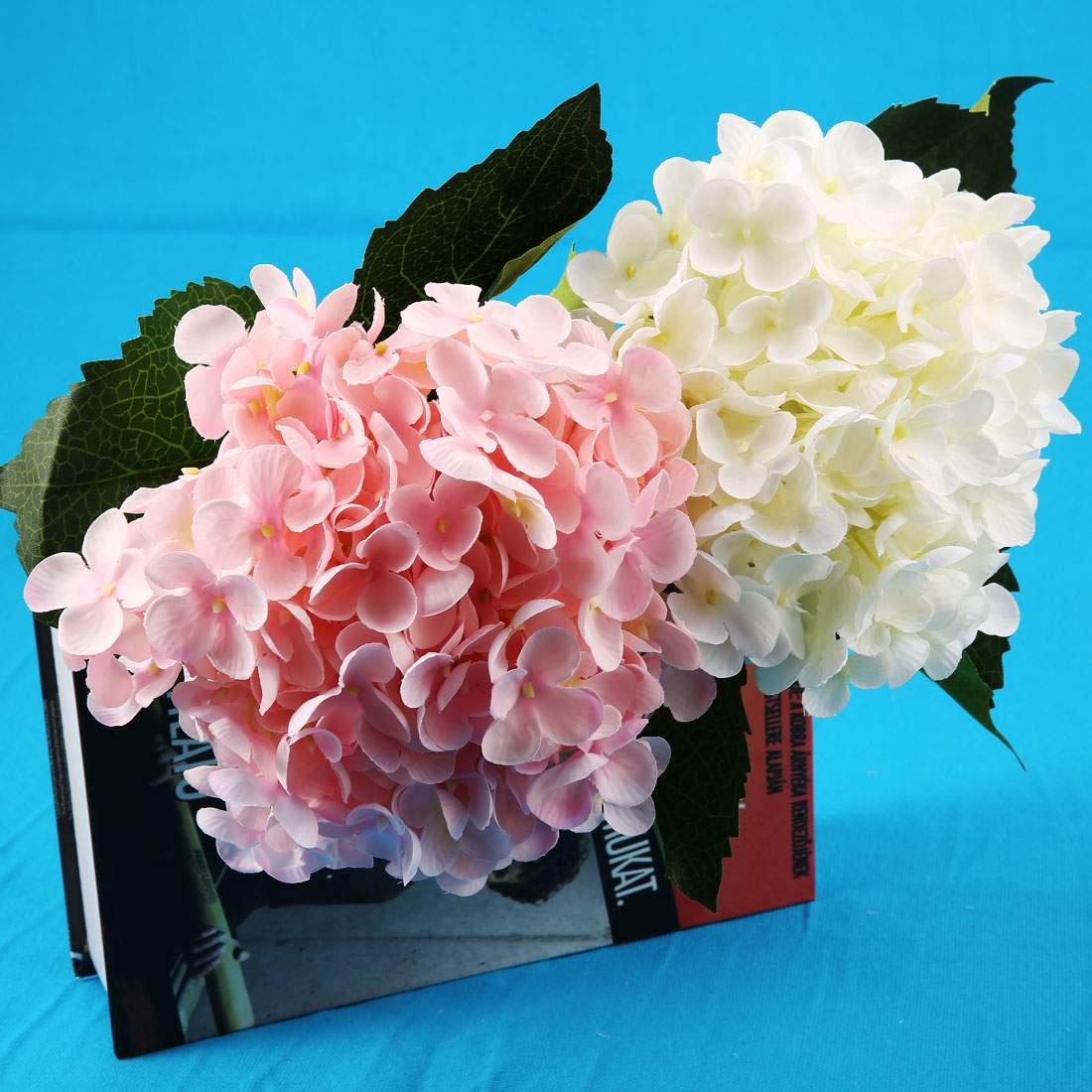 1 st ck K nstliche Hortensien Blume mit Blume Stange DIY Hortensien Zubeh r f r
