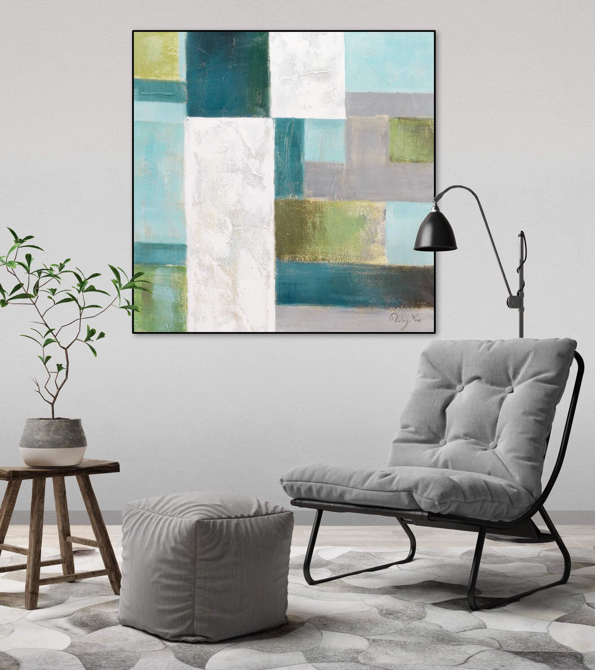 KL modern quadrate modern acryl gemaelde oel bild oelgemaelde 04