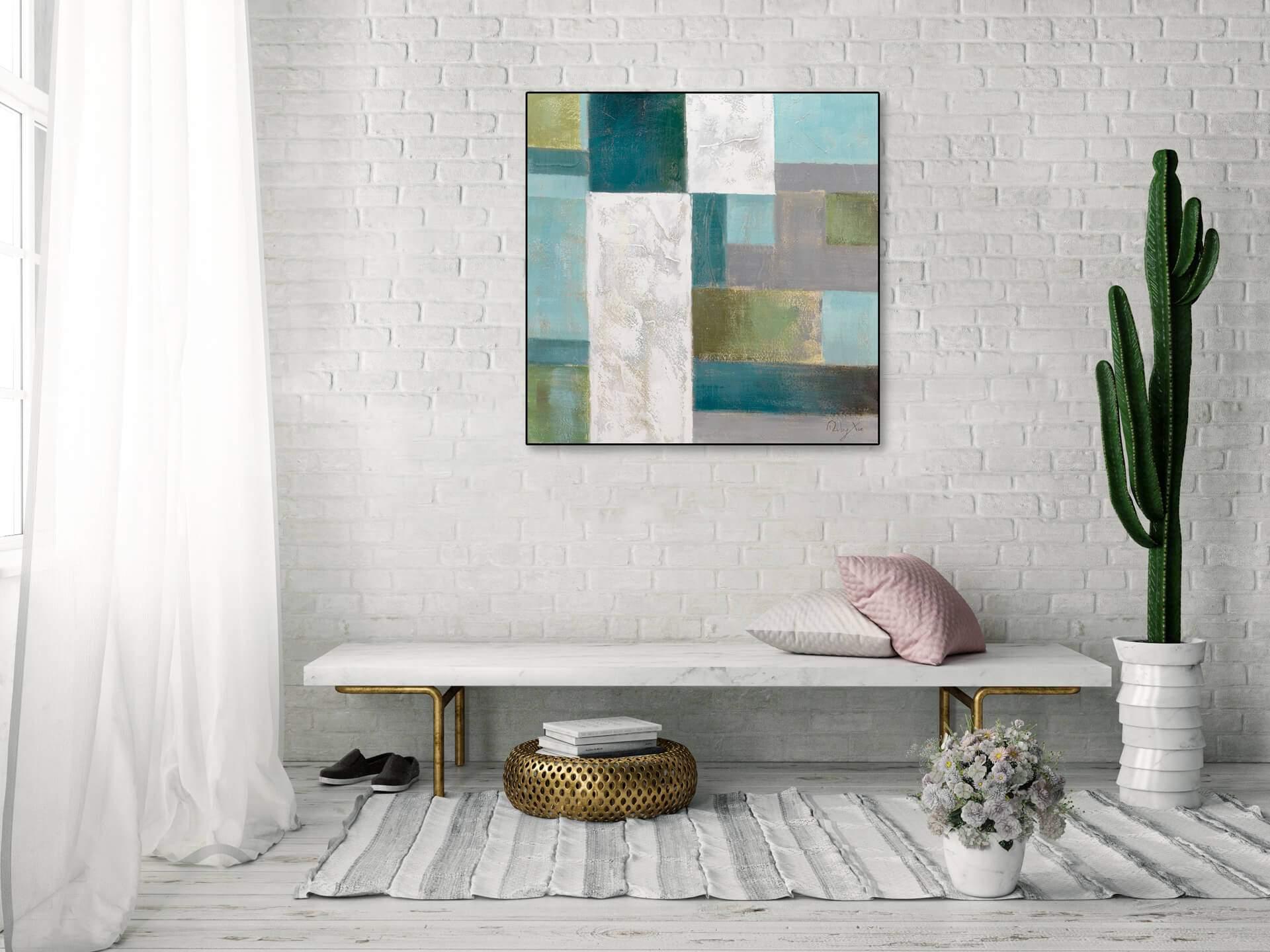 KL modern quadrate modern acryl gemaelde oel bild oelgemaelde 05