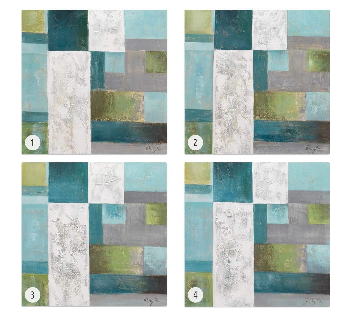 KL modern quadrate modern acryl gemaelde oel bild oelgemaelde 08