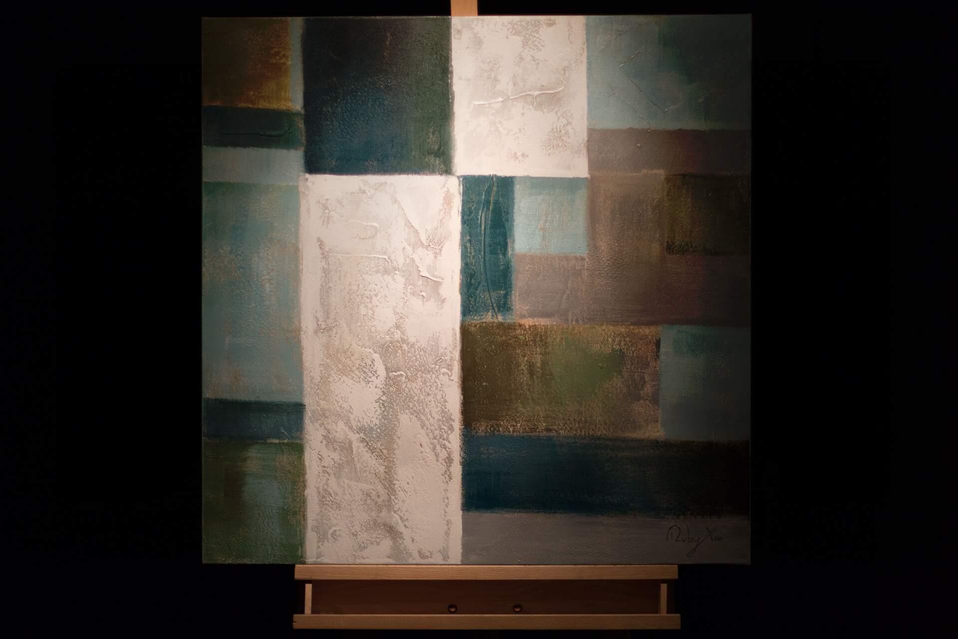 KL modern quadrate modern acryl gemaelde oel bild oelgemaelde 06