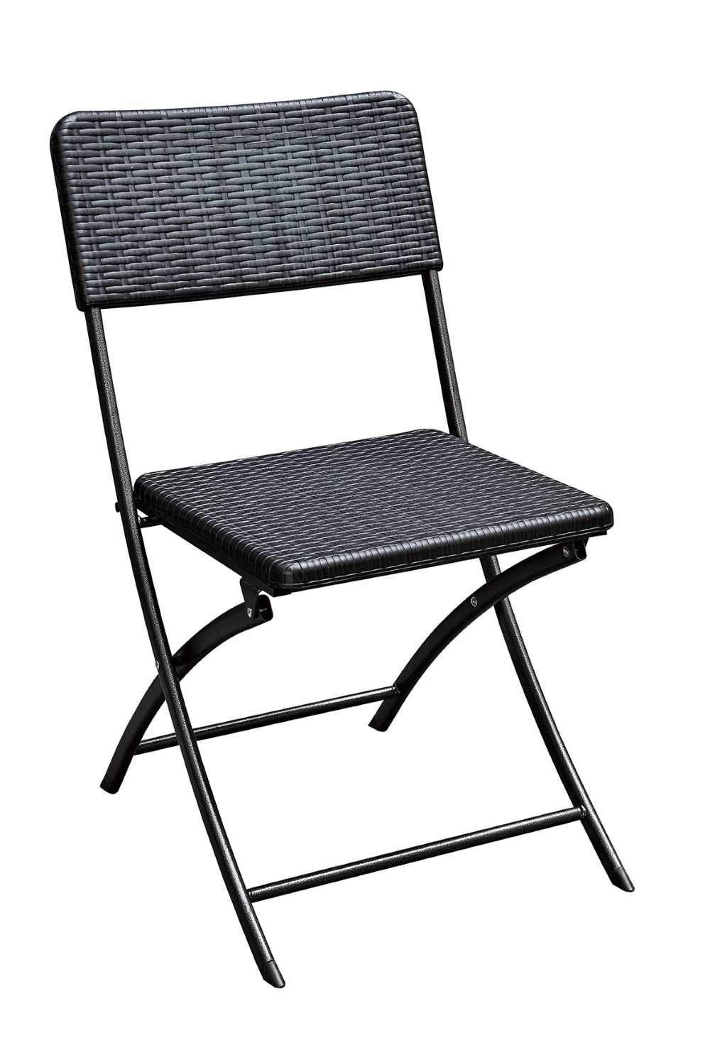 Garten Klappstuhl Metall Das Beste Von Klappstuhl 2er Set Stühle Schwarz Rattan Optik