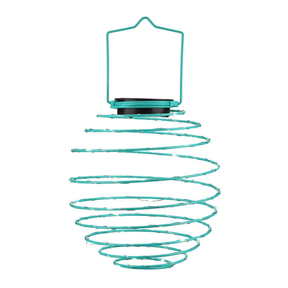 EZSolar LED Solar Spiral Lampion D22cm Bl