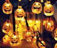Garten Licht Luxus Großhandel 30 Led sonnenenergie Schnur Lichter Led Fee Licht Für Partei Kürbis Grimasse Halloween Garten Landschaft Außendekoration Von Glistenlight