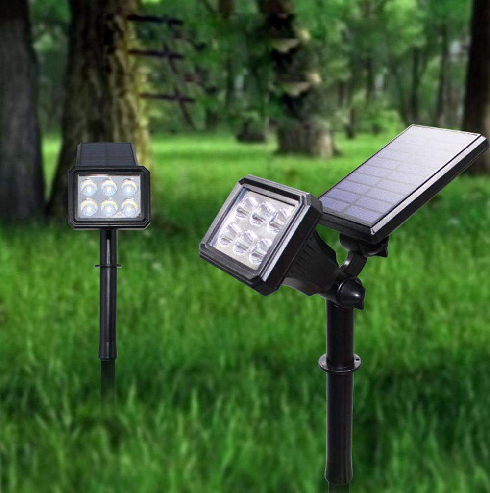 Garten Licht solar Luxus solar Power Weiß Warmweiß Colorful Spot Flutlicht Wand Garten Outdoor Yard Landschaft Lampe