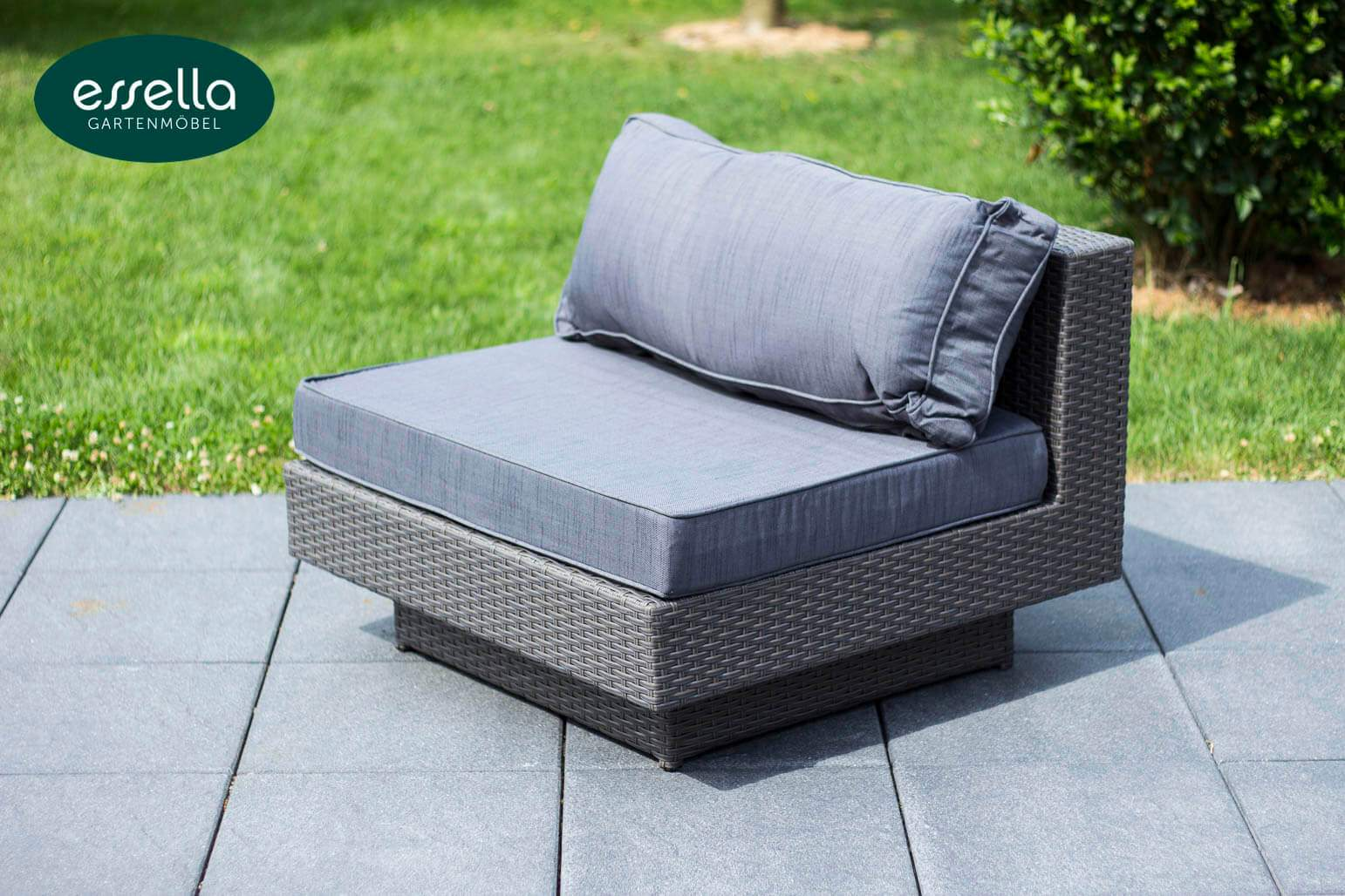 essella polyrattan loungemoebel sitzgruppe melbourne grau flachgeflecht detail 06
