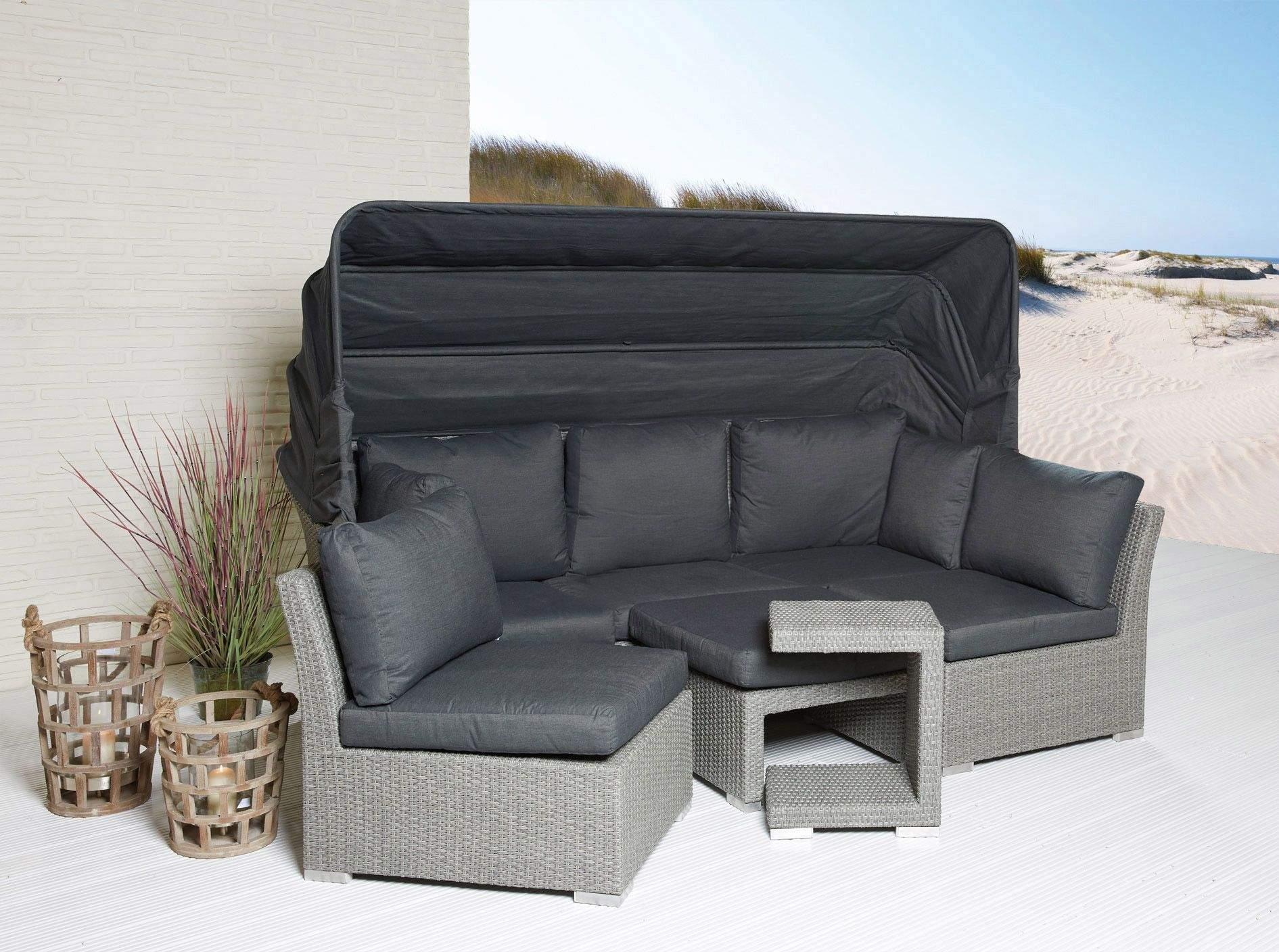 Garten Lounge Grau Luxus sonneninsel Set 5 Teilig Modesto sonneninsel Strandkorb