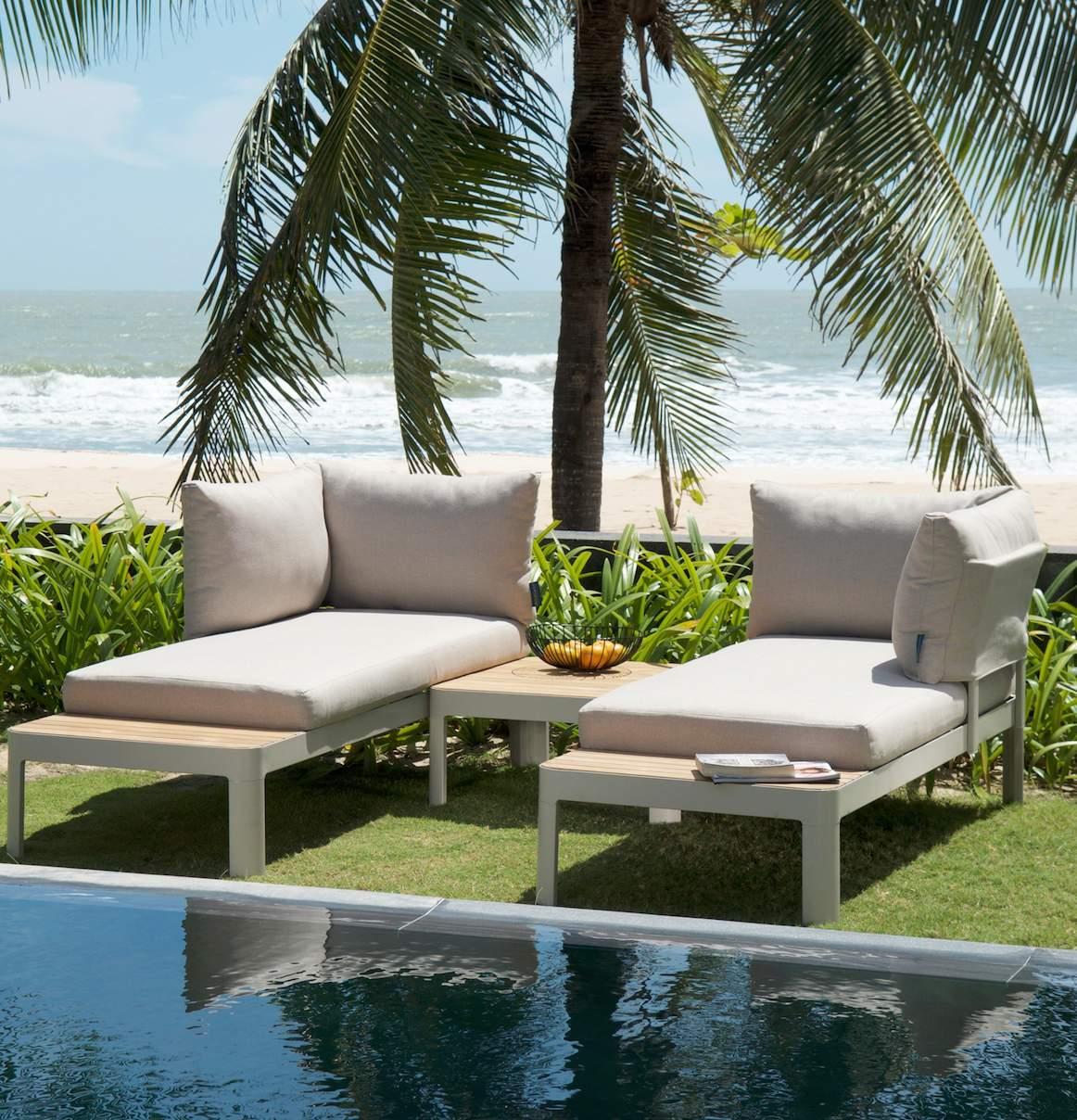 Garten Lounge Holz Schön Gemütliche Gartenlounge Aus Holz Metall Und Textil