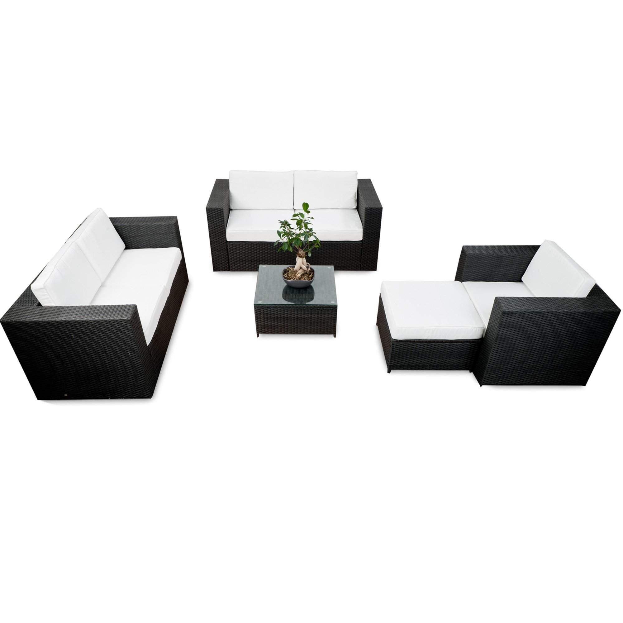 lounge set rattan xxl 17 tlg anthrazit