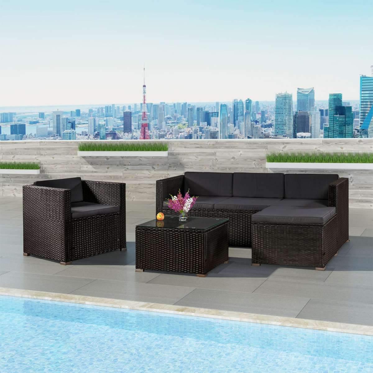Poly Rattan Lounge Set Sitzgruppe Sitzgarnitur Sofa Gartenm bel min 600x600 2x