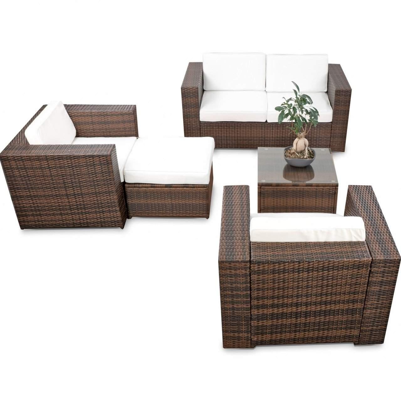 balkon loungemoebel xl 15 tlg polyrattan braun 1280x1280
