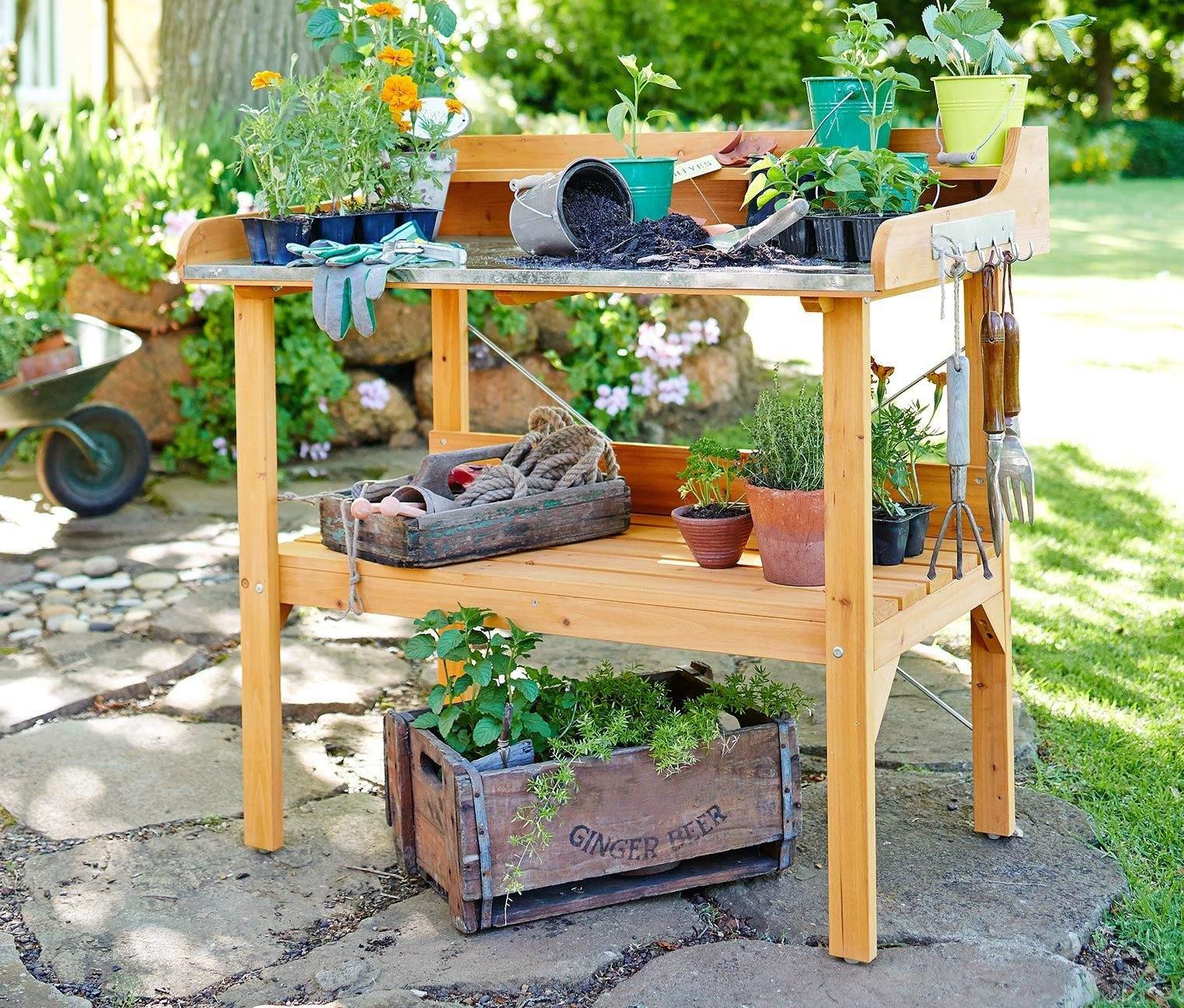Garten Pflanztisch Reizend Pflanztisch