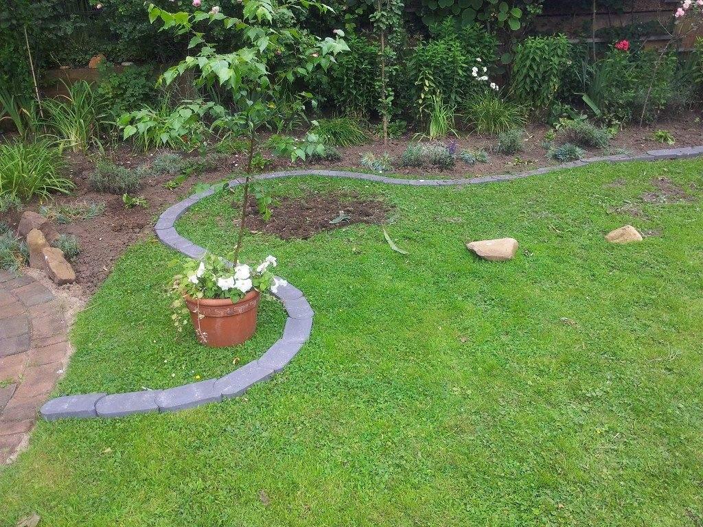 Garten Rasen Reizend Rasenkantensteine Leicht Und Einfach Verlegen Pflanzbeete