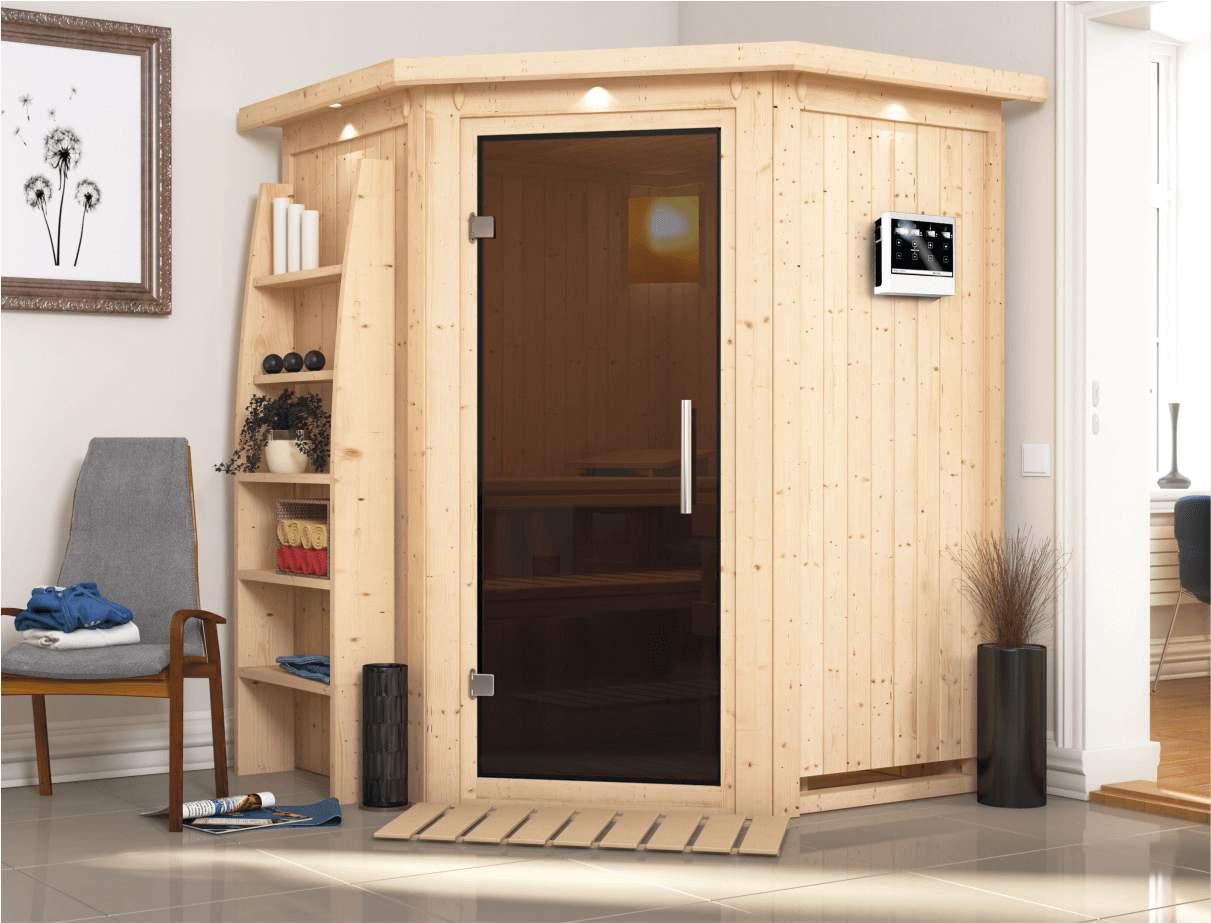 Garten Sauna Elegant Karibu Sauna Larin Gratis Zubehör