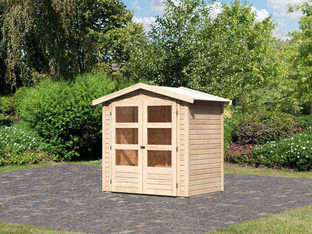 """Garten Sauna Genial Gartenhaus """"amberg 1"""" 19 Mm Naturbelassen"""
