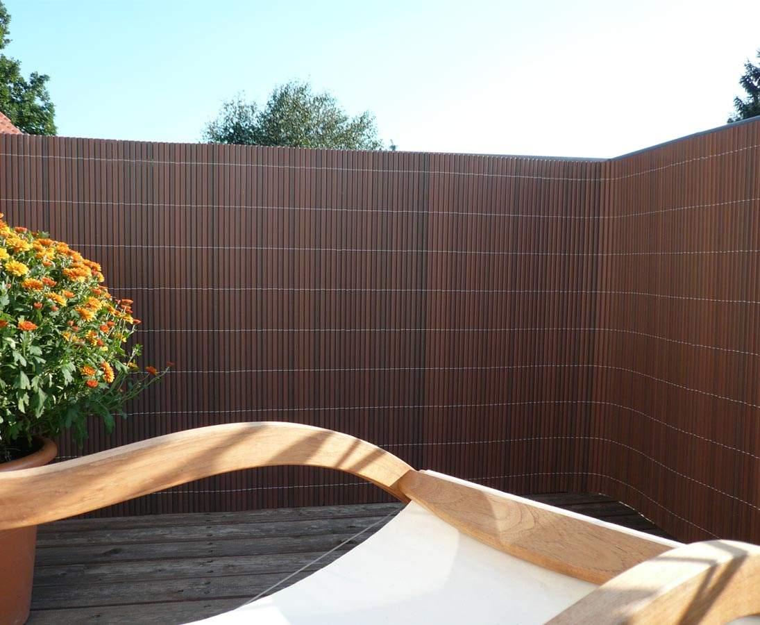 Zaun Sichtschutz Sylt mit 180 300cm nussbaum 1BaNeFHO2jwWgP