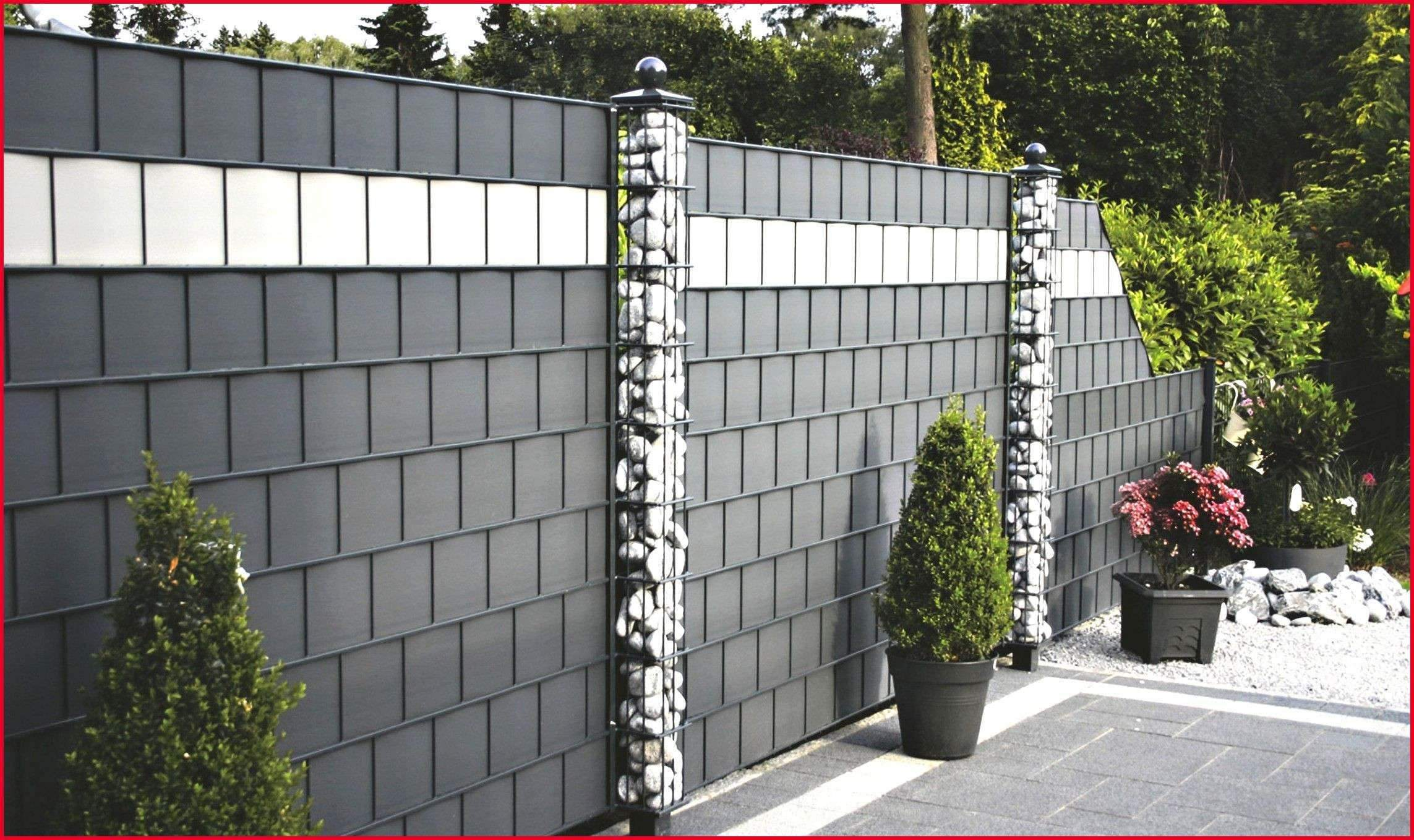 Garten Sichtschutzwand Neu Sichtschutz Stein Beste Zaun Mit Steinen Garten Ideas Zaun