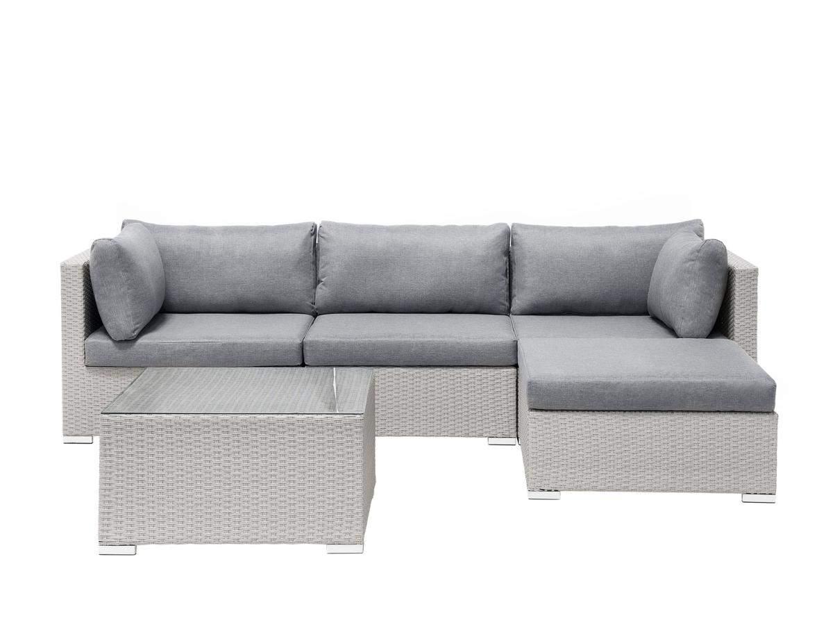 Rattan Gartenm bel Lounge Sitzgarnitur Sun grau 18