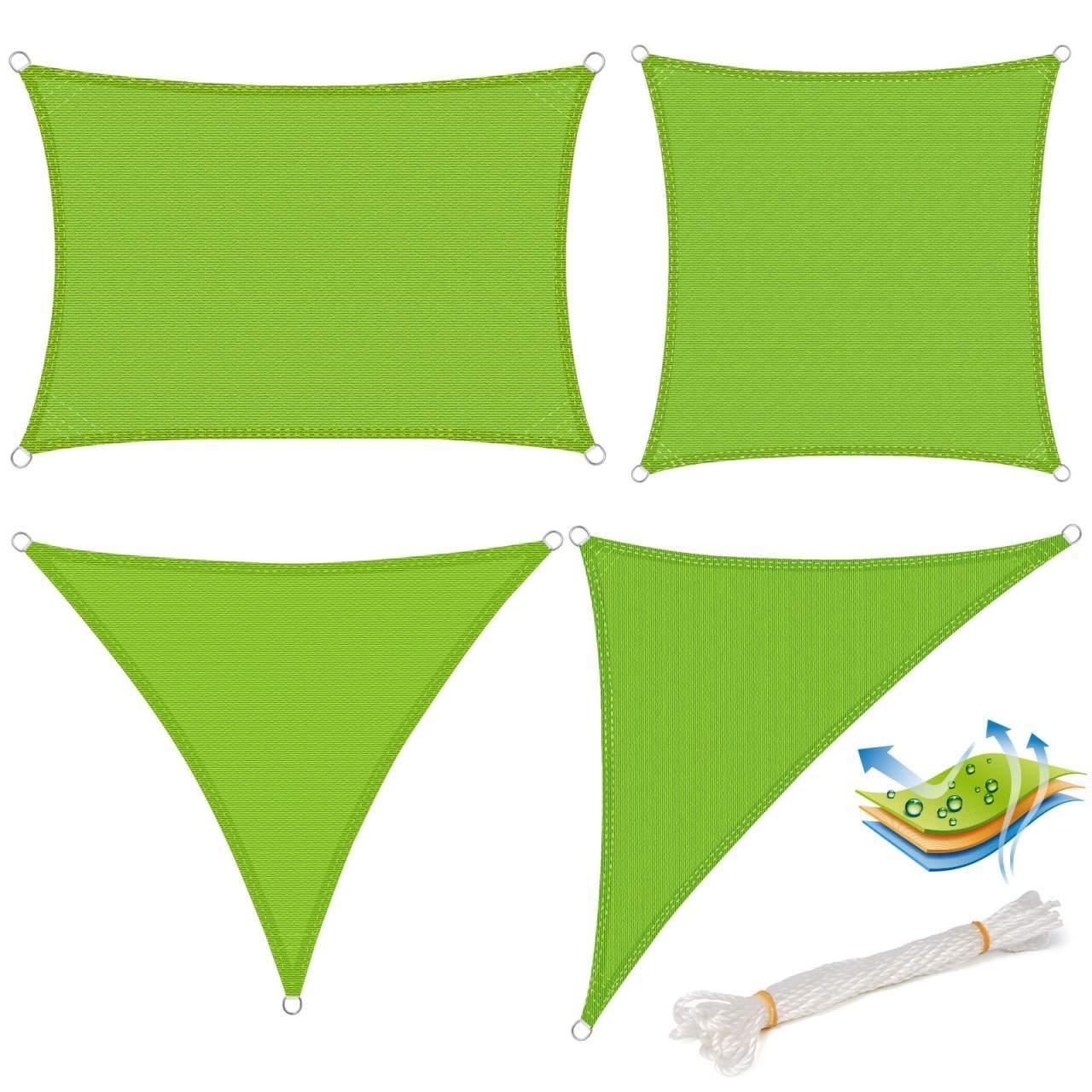 Sonnensegel Sonnenschutz HDPE Windschutz UV Schutz Gruen GZS1188gn01