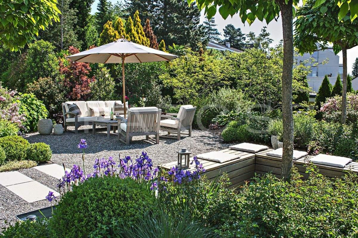 Garten Terrasse Ideen Schön Pflanzplanung Sitzplatz Bepflanzung