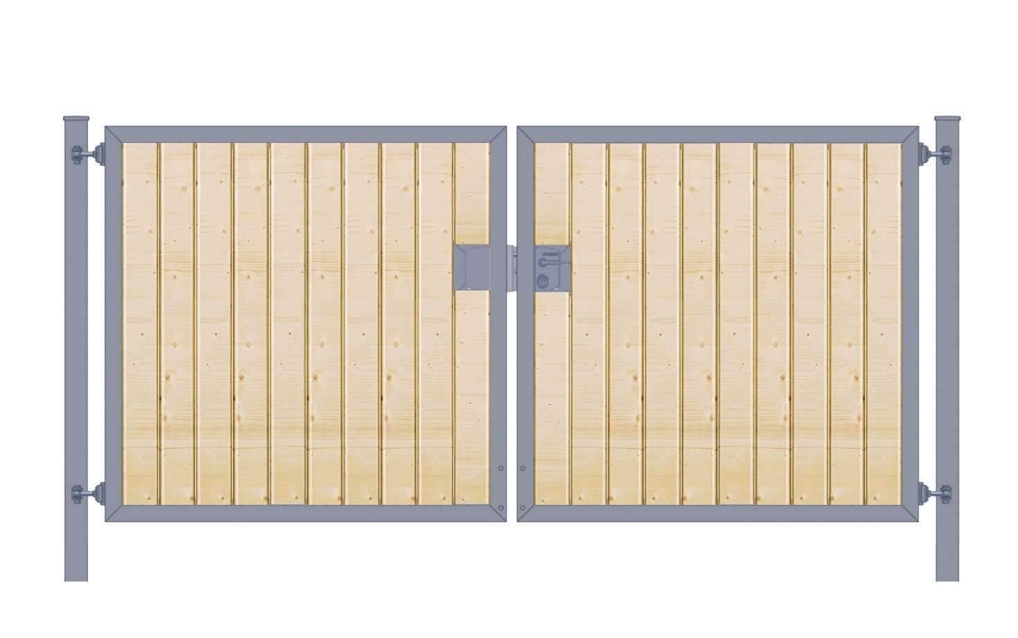 Einfahrtstor Holzfuellung senkrecht Premium zweifluegelig symmetrisch anthrazit5cab fcee 1280x1280 2x