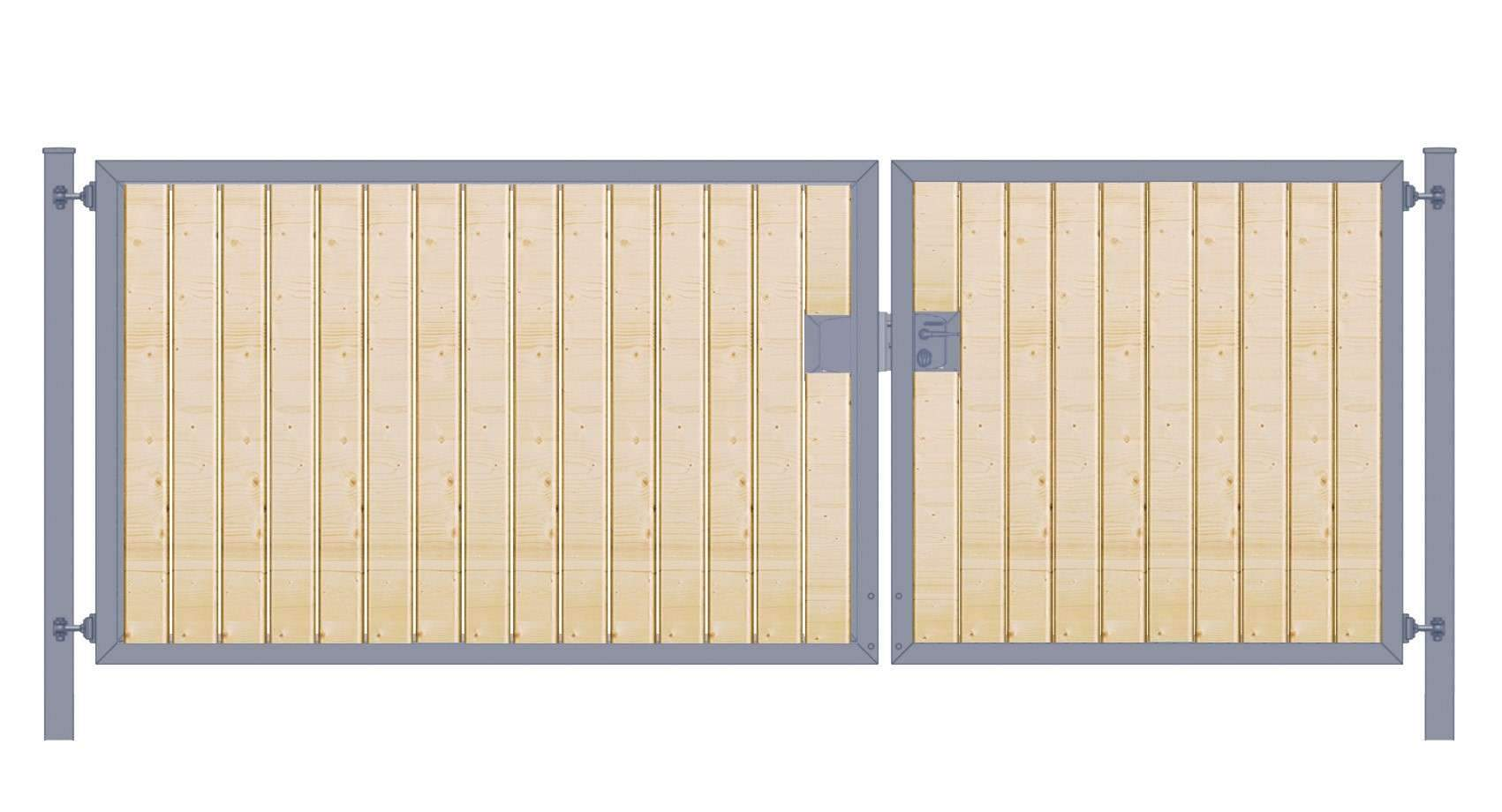 Einfahrtstor Holzfuellung senkrecht Premium zweifluegelig asymmetrisch anthrazit5cab13f9a6295 1280x1280 2x