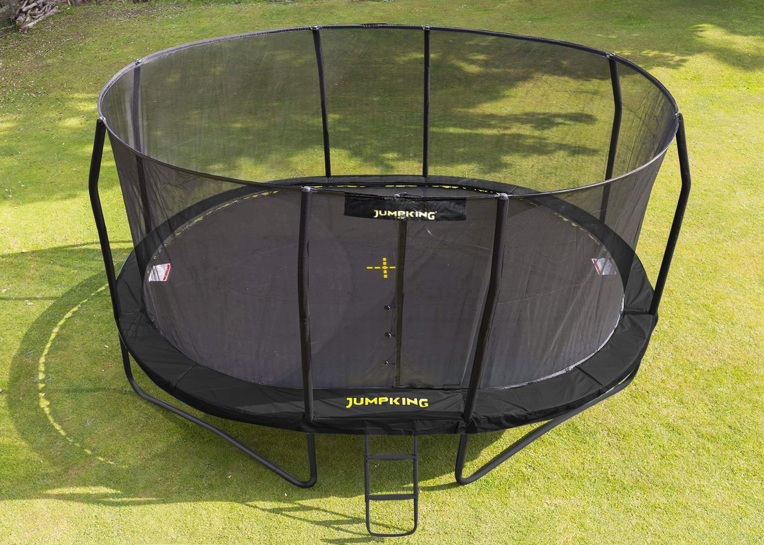 jumpking trampoline met net en ladder jumppod oval 518 x 427 cm zwart 2016 3