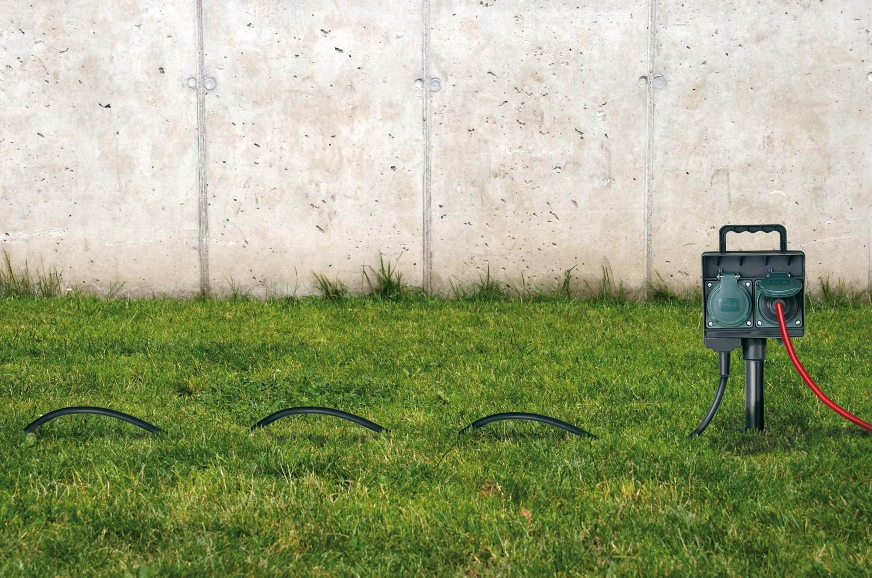 stromverteiler garten inspirierend gartensteckdose mit erdspies ip44 2 fach 1 4m h07rn f 3g1 5 of stromverteiler garten